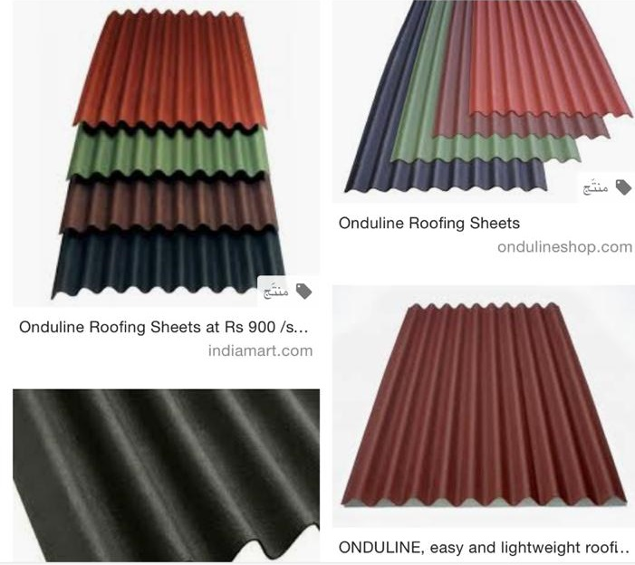 Onduline roof sheets